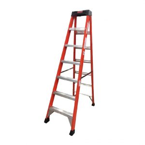 Tradecraft 7′ Fiberglass Step Ladder Grade 1A 300lb