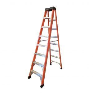 Tradecraft 8′ Fiberglass Step Ladder Grade 1A 300lb