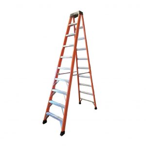 Tradecraft 10′ Fiberglass Step Ladder Grade 1A 300lb