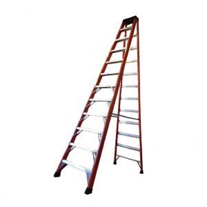 Tradecraft 12′ Fiberglass Step Ladder Grade 1A 300lb